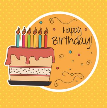happy birthday card template ilustrator blank greeting card template free vector 24 272