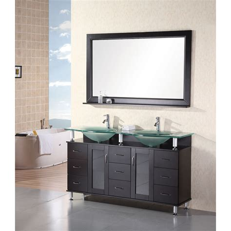 design element bathroom vanities design element huntington 60 quot double sink vanity set
