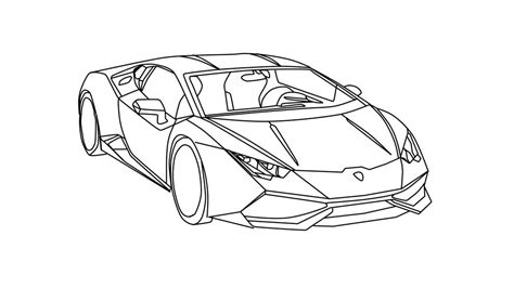 lamborghini aventador drawing outline lamborghini huracan revisit by bloodthirstydarkstar on