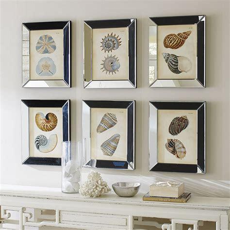 mirrored picture frames shells in mirror frame ballard designs