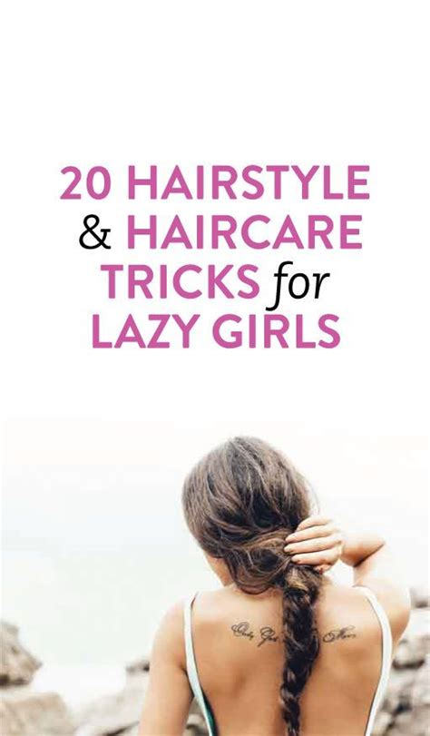 easy hairstyles hair hacks tips and tricks for lazy 20 easy quick hairstyle ideas tricks health lala