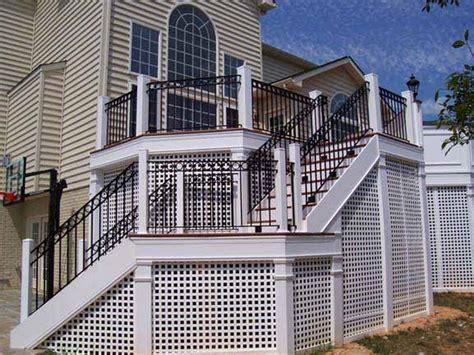 Steel Banister Rails Hercules Fence Maryland Custom Balcony Railings