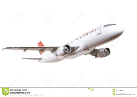 commercial model planes commercial plane model isolated on white stock photography
