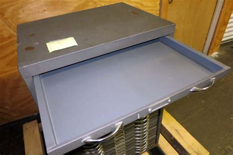 lot 62 metal storage cabinet flat drawers wirebids