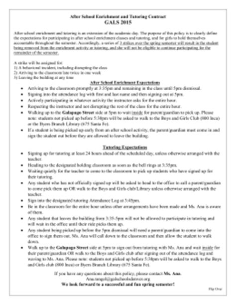 Sle Letter Supplementary Educational Services After School Program Contract Template