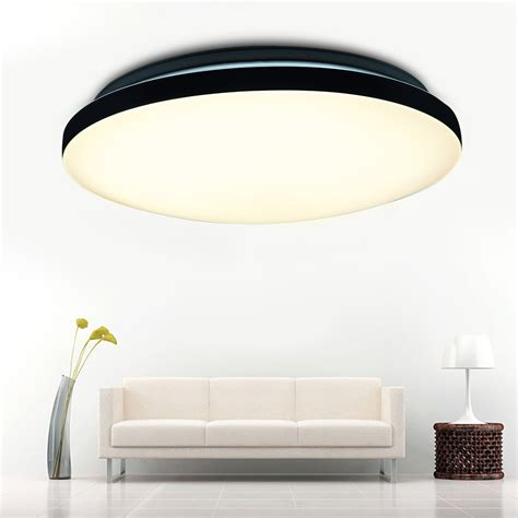 Flush Pendant Ceiling Light 24w Led Pendant Ceiling Light Flush Mount Fixture Chandelier Kitchen L 3modes Ebay