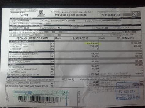liquidacion pago impuesto predial bogota 2016 impuesto predial bogota 2016 pago en linea impuesto