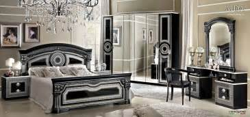 Rooms Bedroom Furniture Aida Black W Silver Camelgroup Italy Classic Bedrooms Bedroom Furniture