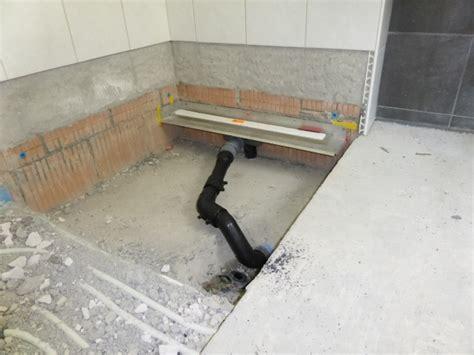 dusche bodenablauf projekt begehbare dusche