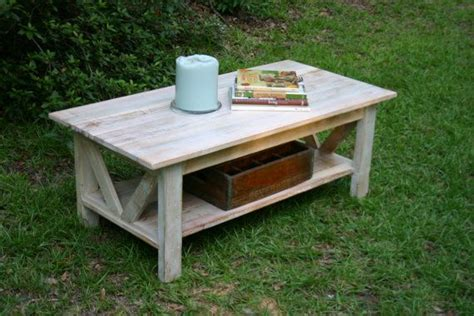 reclaimed wood coffee table with shelf white washed stain