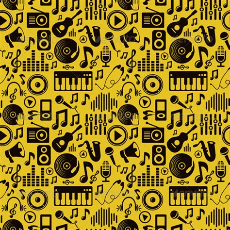 Seamless Pattern Music | 17 musical photoshop patterns free psd png vector eps