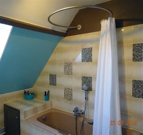 tringle pour baignoire tringle rideau de sous pente