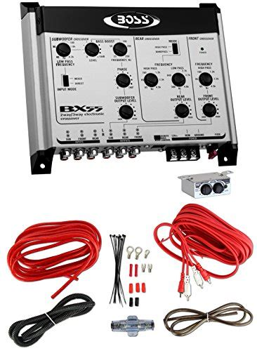 Kit Rangkaian Crossover 3 Way Bass bx55 2 3 way car audio electronic crossover bass w remote kit vehicles parts