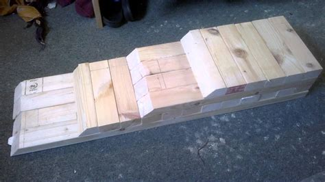 diy car ramp wooden  cost homemade vehicle stand lift