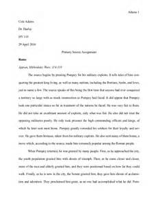 Primary Source Essay Exle by Primary Source Analysis