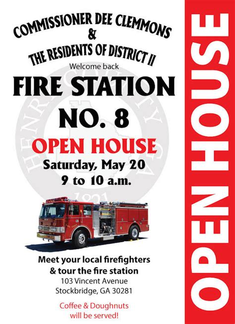 open house saturday open house saturday to welcome henry county firefighters to temporary fire station no