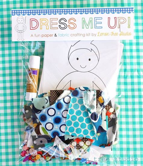 fabric crafts for boys dress me up a paper fabric doll craft kit for