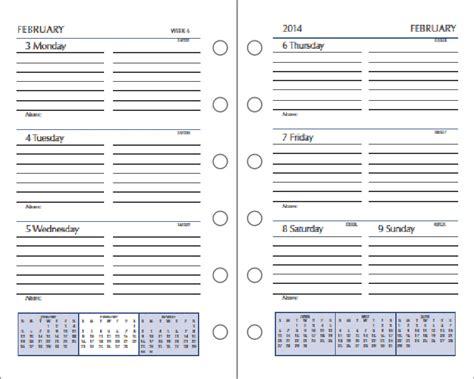 printable calendar refills day runner monthly calendar templates calendar template 2016
