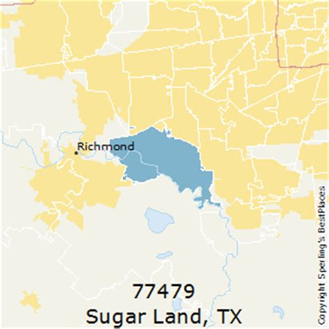 sugar land texas zip code map best places to live in sugar land zip 77479 texas