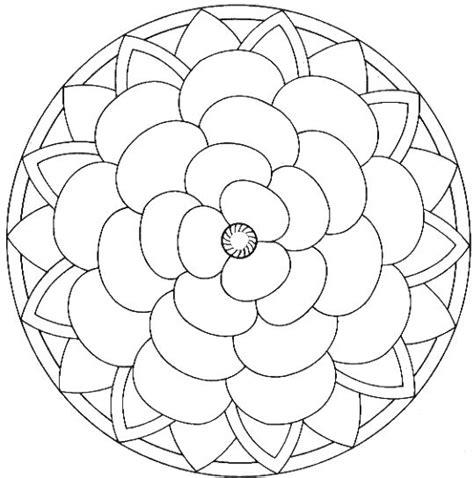 rose petal coloring page mandala fleur coloriage pour enfants pinterest