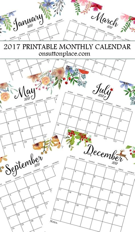 Free Printable Monthly Calendar 25 Unique Monthly Calendars Ideas On This