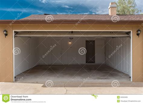 how to open a garage door open garage stock photo image 50252405