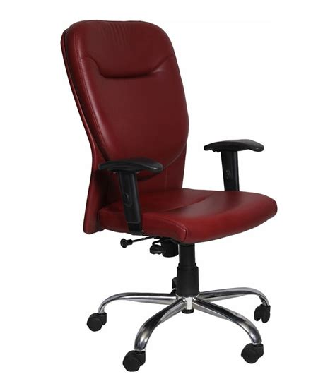 Maroon Office Chair by Str Chair Low Back Office Chair In Maroon Best Price In