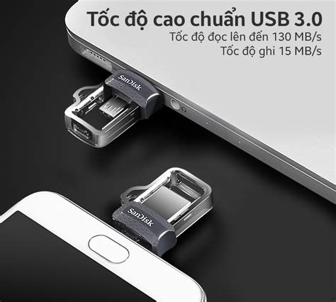 Flashdisk Sandisk Otg 16gb Up To 130 Mb S Usb 3 0 usb sandisk sddd3 otg 16gb 3 0 trần anh