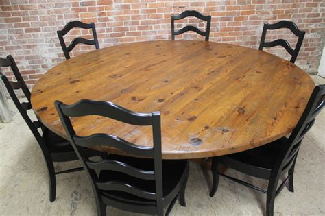 rustic round dining room tables rustic 84 round table craftsman dining tables boston