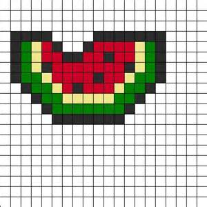 watermelon perler bead pattern bead sprites food fuse