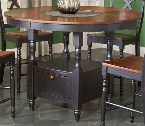 largo phillip counter height table w lazy susan d195 36