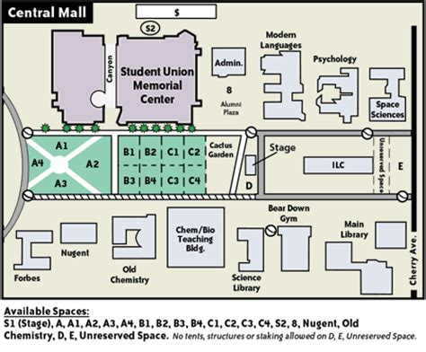 layout of tucson mall available space maps