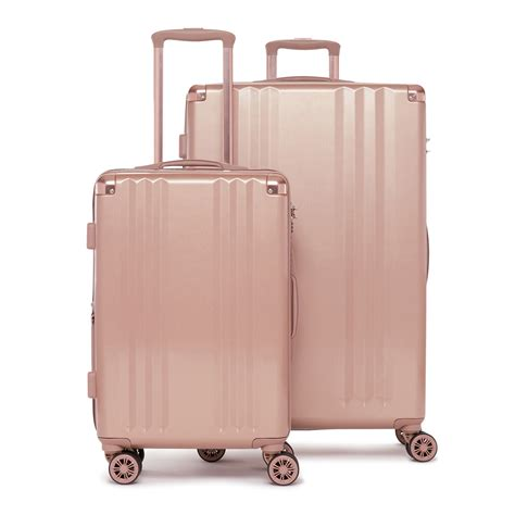 beautiful suitcases ambeur rose gold 2 piece luggage set calpak travel
