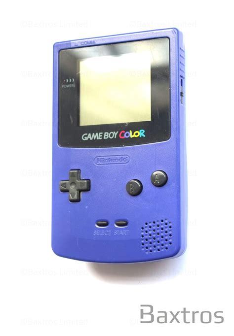 nintendo gameboy color nintendo boy color grape purple held console