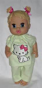 Pajama set fits 12 13 inch baby doll doll clothes handmade made in usa