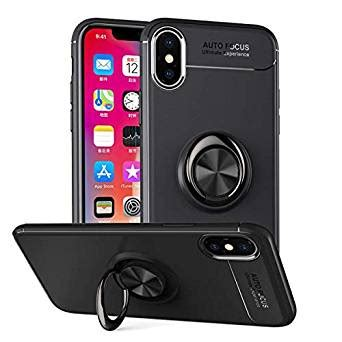 for iphone xs xs max xr with ring holder kickstand shock absorption soft