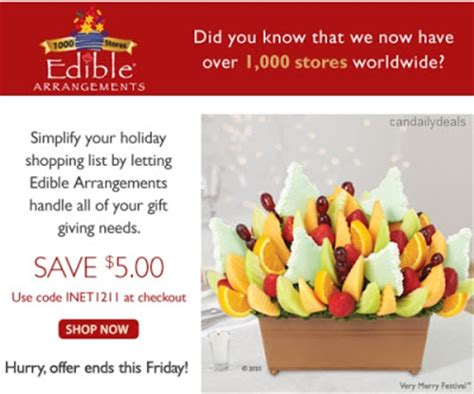 coupon for edible arrangements canada 2017 2018 best