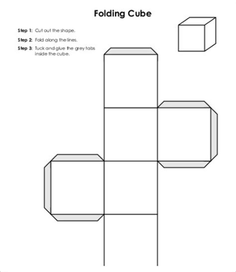 cube template pdf cube template 9 free pdf documents free