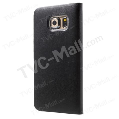 Samsung Galaxy S6 Dot View For Black T3009 dot view smart leather flip cover for samsung galaxy s6