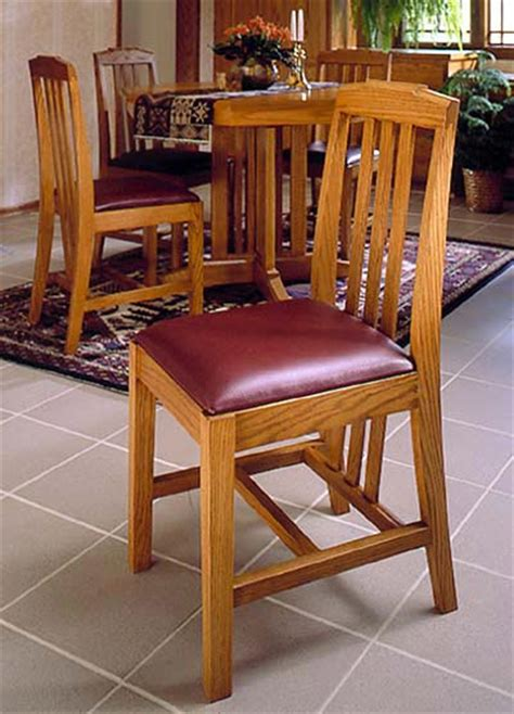 Wood Dining Chair Plans Arts And Crafts Dining Chairs Woodworking Plan From Wood Magazine
