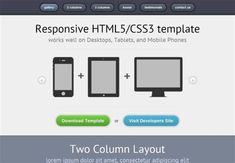 responsive01 free html5 template html5xcss3
