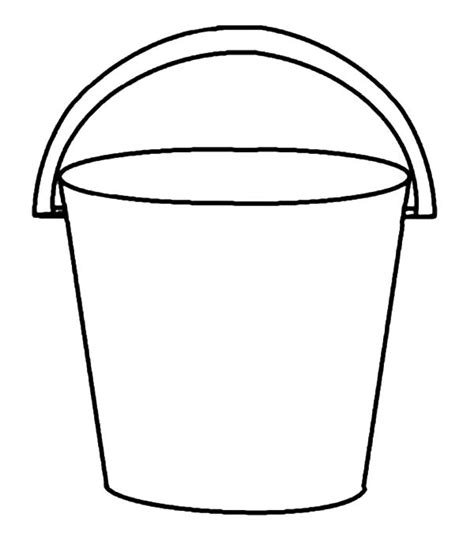 water pail coloring page free coloring pages of and bucket