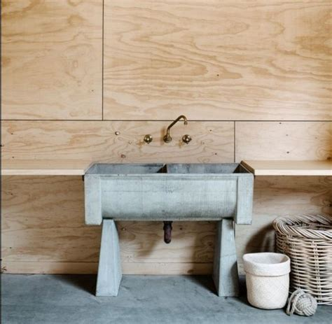 A Modern Take On The Old Concrete Laundry Sinks You Find