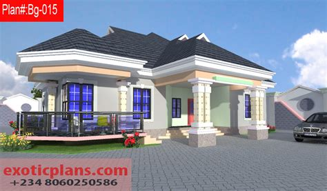 four bedroom bungalow design 4 bedrooms bungalow bg 015