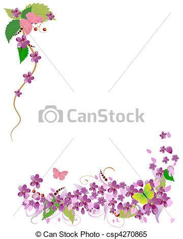 clipart cornici clipart vettoriali di ciliegia cornice fiori cornice