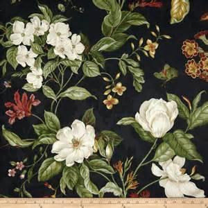 waverly garden images black discount designer fabric