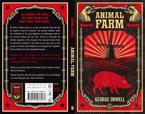 biography of george orwell author of animal farm penguin s redesigned covers for quot 1984 quot and quot animal farm