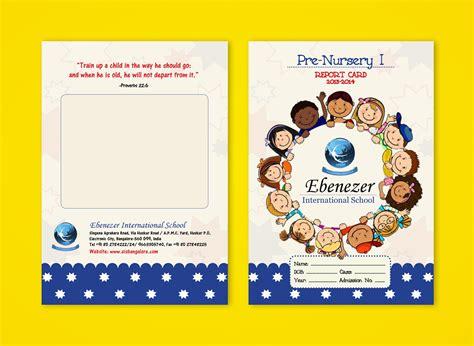 nursery report card sle pre nursery report card on behance