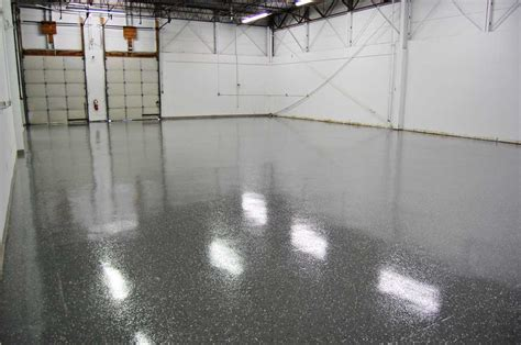 Dark Gray Epoxy Floor with Black Marble Flakes by Witcraft