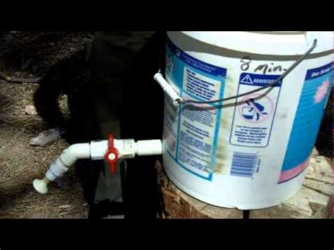 How To Remove Kitchen Faucet camp shower from five gallon bucket youtube